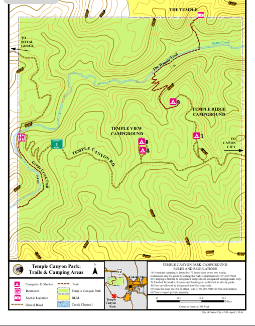 Temple Canyon Map